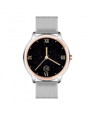 Smarty Smart watch - Eleganza - bracciale a maglia milanese - controllo del sonno - pedometro -GPS - touch screen