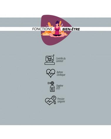 Smarty Smart Watch - Fit Lux Milano - bracciale a rete - consumo di calorie - pedometro - monitoraggio del sonno - fitness