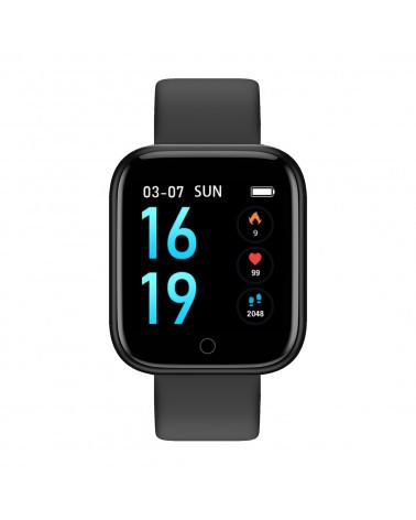 Smarty Smart Watch - Wellness - Silikon und Mesh-Armband - Temperatur - Schrittzähler - Fitness - GPS