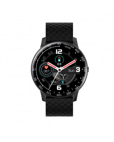 Smarty Smart Watch - Warm Up - Silikonarmband - Herzfrequenz - Schrittzähler - GPS - Wetter - Touchscreen