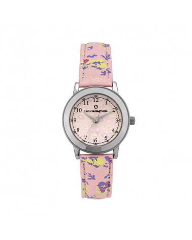 Lulucastagnette Liberty montre fille fleur argentée