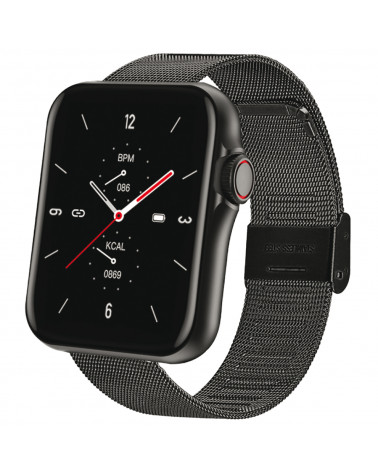 SMARTY connected watch - Standing mesh - Mesh wristband - Calorie consumption - Bluetooth call - Fitness - GPS
